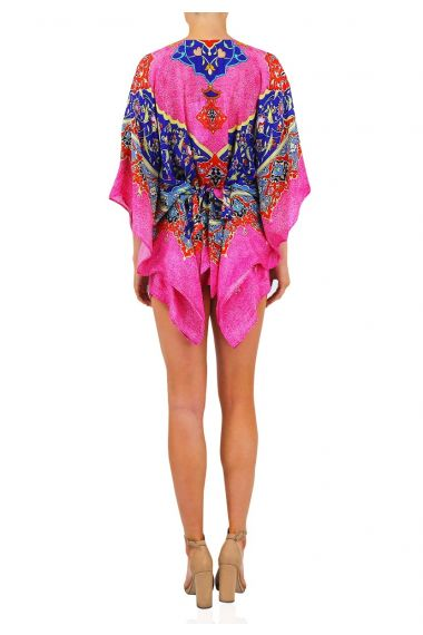 Printed Caftan in Pink