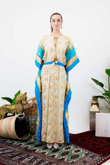 Belted-Designer-Long-Caftan-Dress