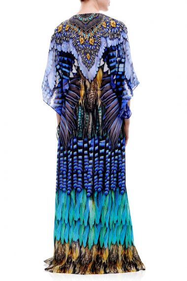 Bird-Print-Long-Caftan