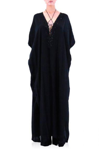 Black-Long-Convertible-Caftan-Dress