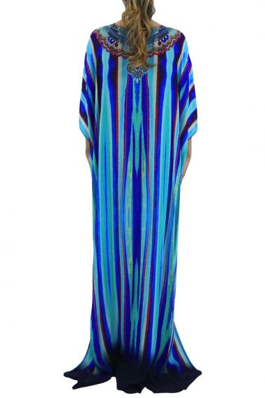 Blue-Caftan-Dress-Long-Printed-Caftans