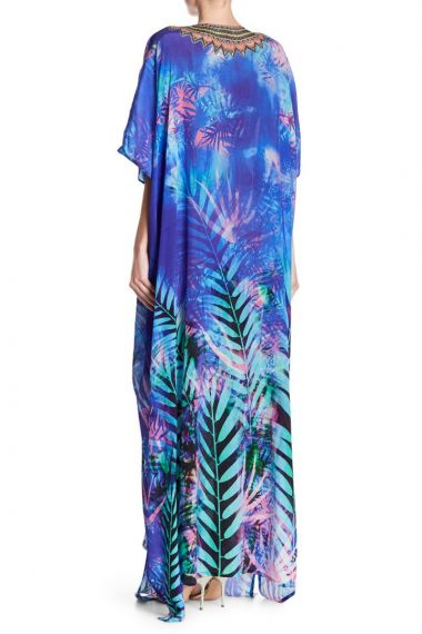 Blue-Caftan-Dress-Long-Printed-Kaftans-For-Women