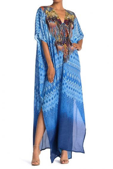 Blue-Caftan-Long-Dress-for-women