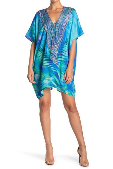 blue-caftan-short-dress