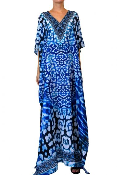 blue-kaftan-long-dress-for-women
