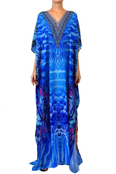 Blue-long-caftan-dress-for-women