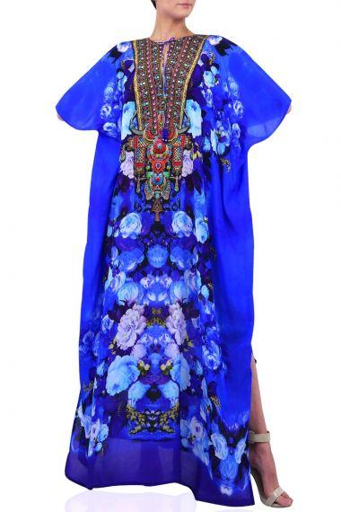Designer-Blue-Long-Caftan-Dress