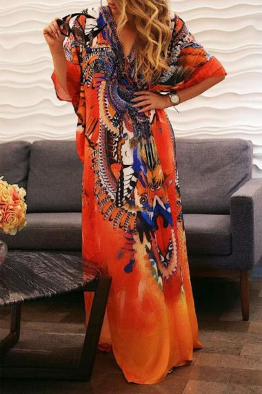 Designer Long Caftan Dress