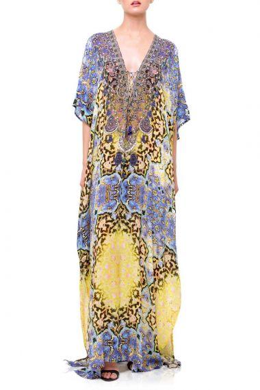 Designer-Long-Convertible-Caftan-Dress-In-Purple