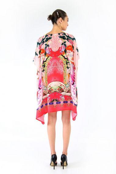 designer-printed-short-silk-caftan-dresses
