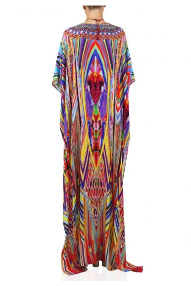 Embellished-Long-Caftan-Dress