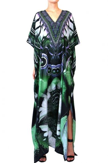 green-caftan-dress-printed-long-dress