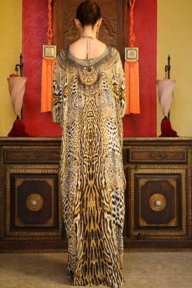 Leopard-Print-Caftan-Dress