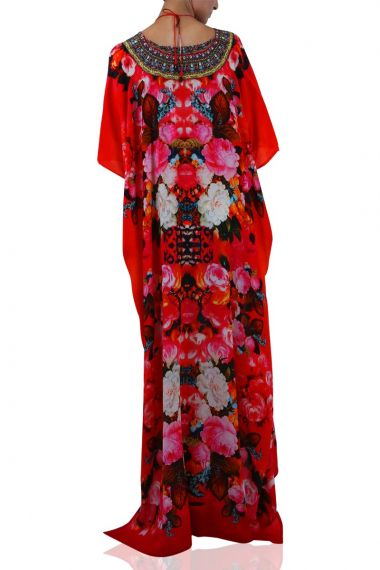 Long-Caftan-Dress-In-Floral-Print-For-Women