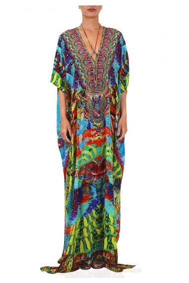 Long-Caftan-Dress-In-Snake-Print