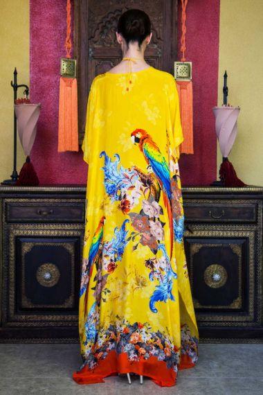 Long-Caftan-Dress-In-Tropical-Yellow-Print
