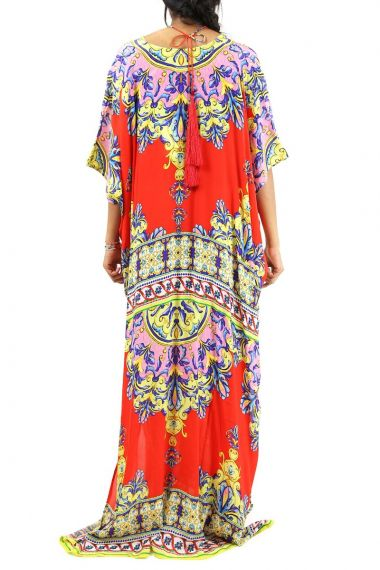 Long-Caftan-Dress-Printed-Women's-Caftan-Dresses