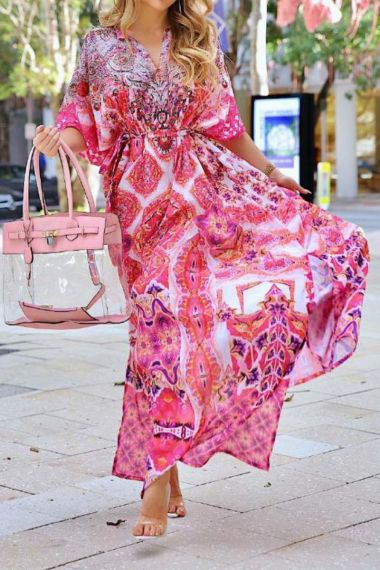 Long-Caftan-Printed-Dress-For-Women