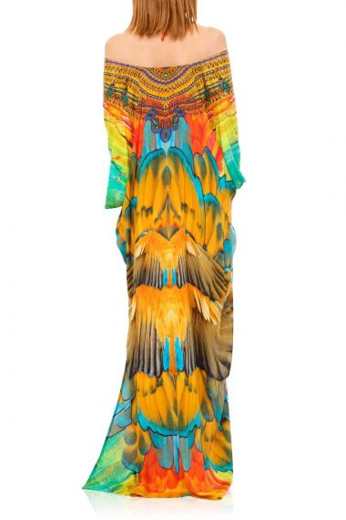 Long-Convertible-Caftan-Dress-In-Feather-Print