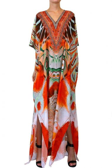 orange-caftan-dress-long-printed-dress