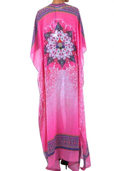 pink-caftran-long-dress-for-women