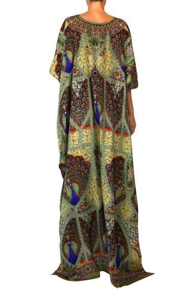 printed-caftan-dress-round-neck