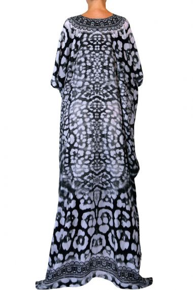 printed-caftan-long-dress-in-black