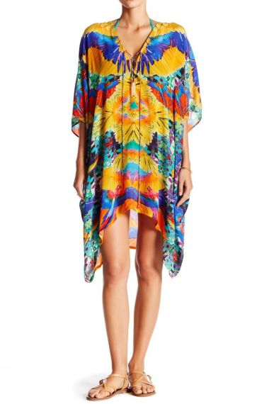 Printed-Short-Caftan-Dress-Women's-Caftan