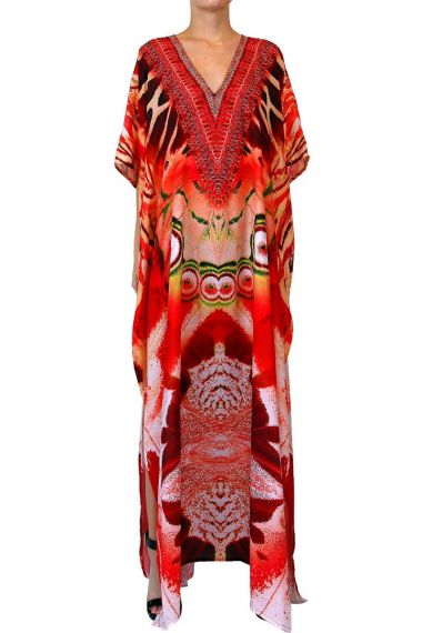 Red-caftan-long-dress-printed-dress-for-women