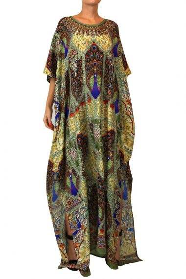 round-neck-caftan-dress