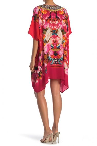 Short-Caftan-Printed-Dress