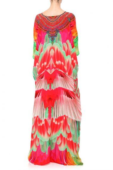 Women-Long-Lace-Up-Caftan-Dress