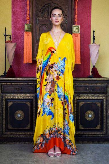Women-Yellow-Designer-Long-Caftan-Dress