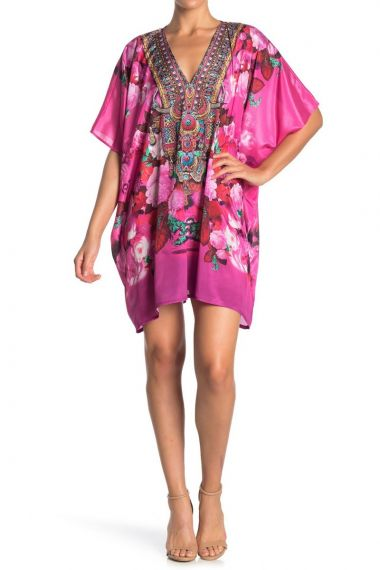 women's-caftan-short-dress-in-floral-print