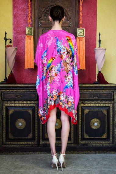 Women's-Designer-Silk-Short-Caftan-Dress