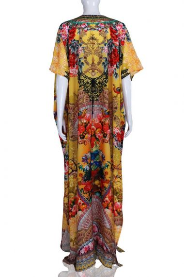 women's-yellow-caftan-dress-in-floral-print