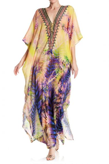Yellow-Caftans-Printed-Long-Caftans-For-Women